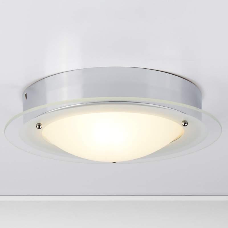 JUNA - badkamerplafondlamp met glazen rand