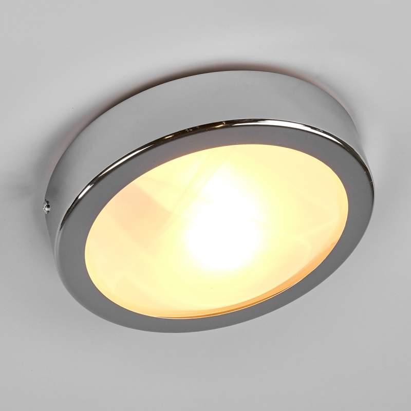 Badkamerlamp MARE met satijnglas in chromen frame