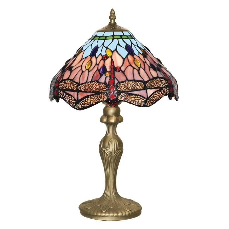 Betoverende Tiffany stijl tafellamp DRAGONFLY
