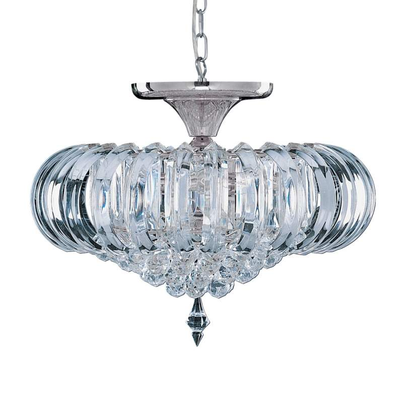 Tijdloze plafondlamp SIGMA, 5-lichts, chroom