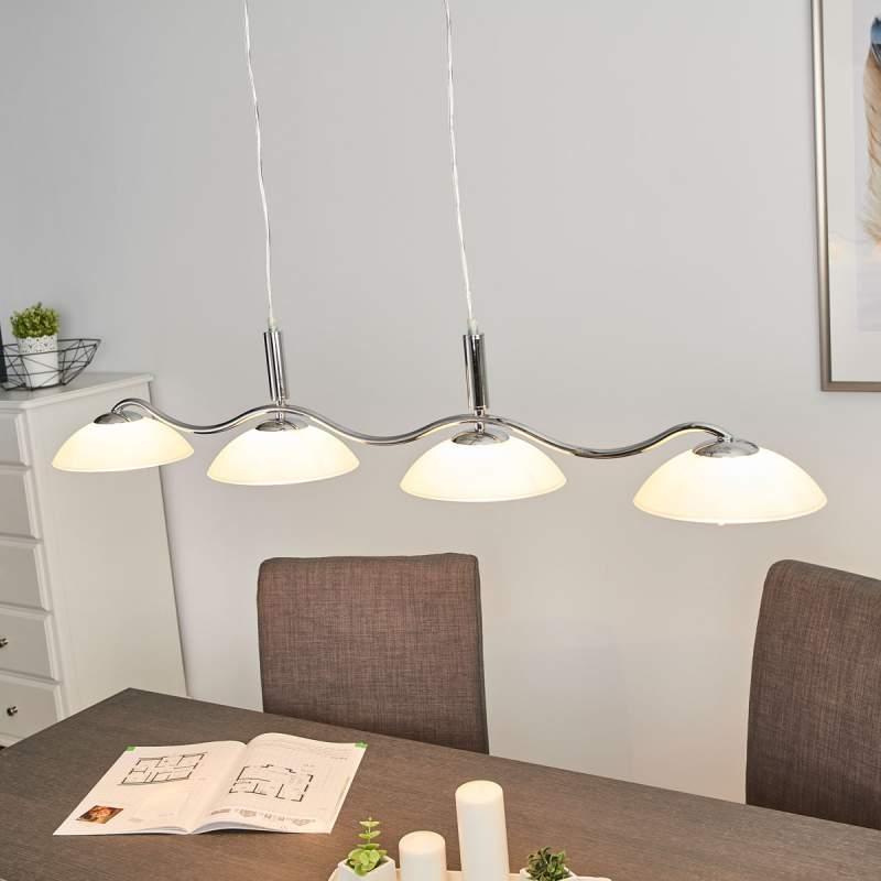 Priscilla - gebogen hanglamp, 4-lichts