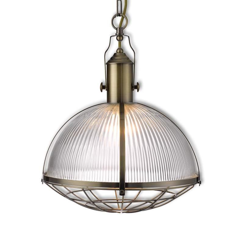 Robuust bewerkte hanglamp Melea