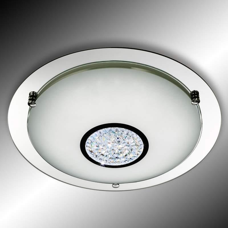 LED plafondlamp Edin m. kristallen juwelen