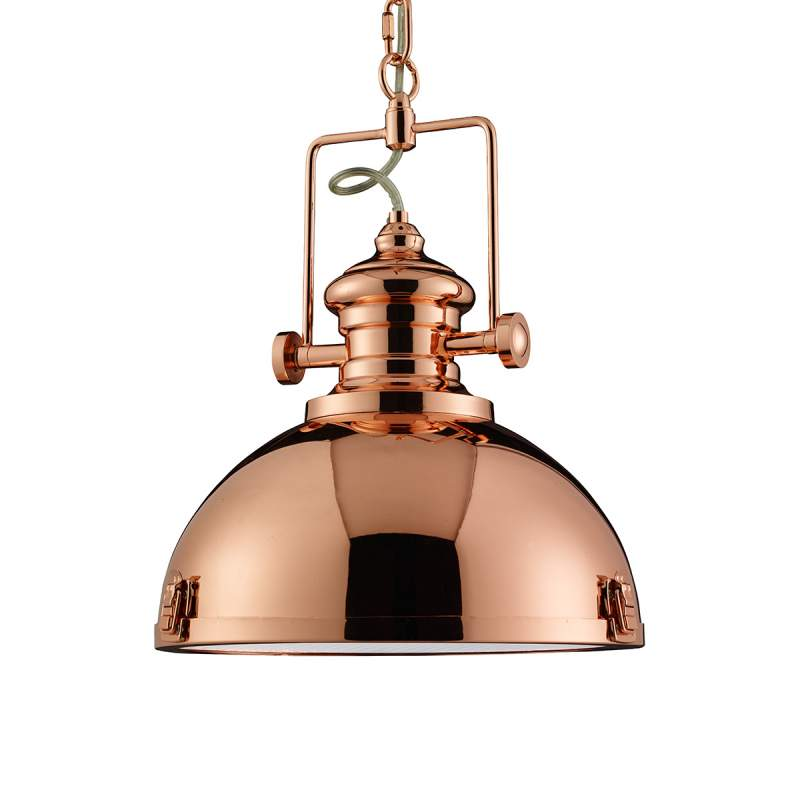 Koperkleurige hanglamp Metal industrieel ontwerp