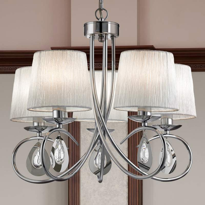 Prachtige hanglamp Angelique 5 lichtbronnen