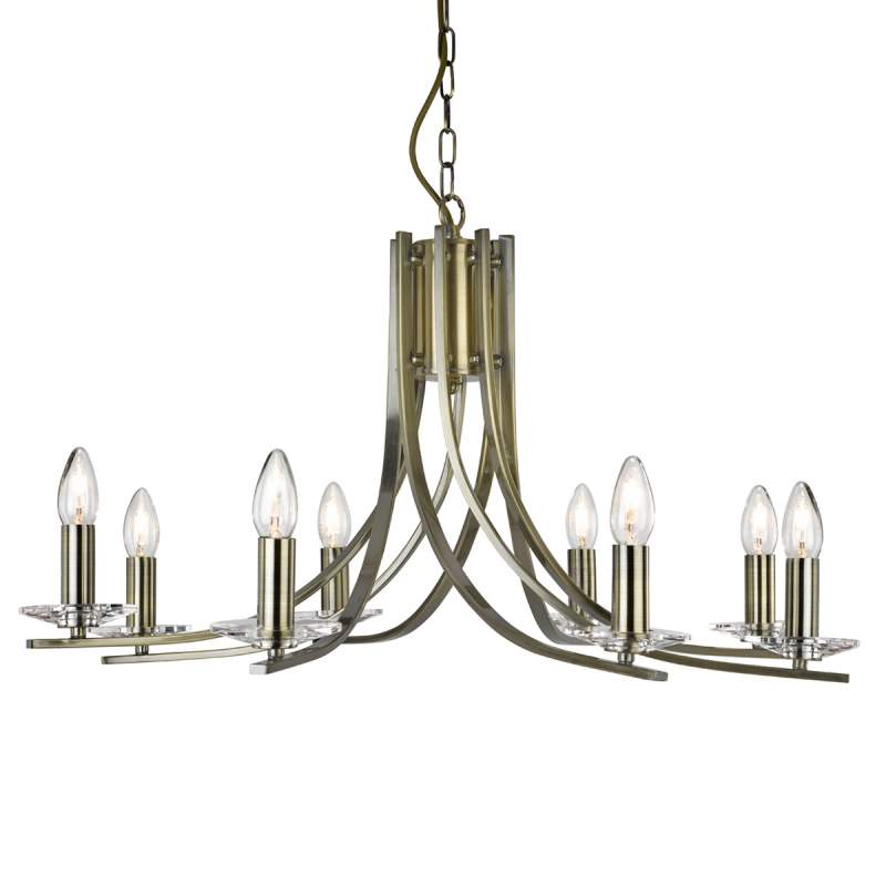 Mooie hanglamp Ascona, 8 lichtbronnen