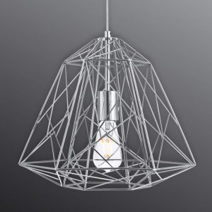 Futuristische hanglamp Geometric Cage chroom