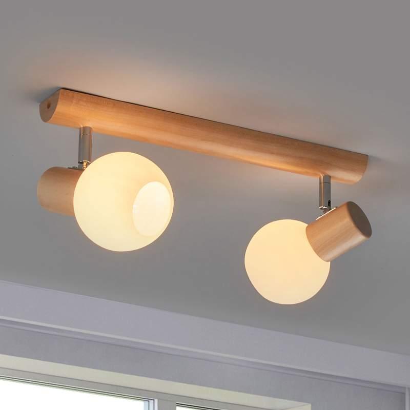 Plafondlamp Karin met twee lichtbronnen