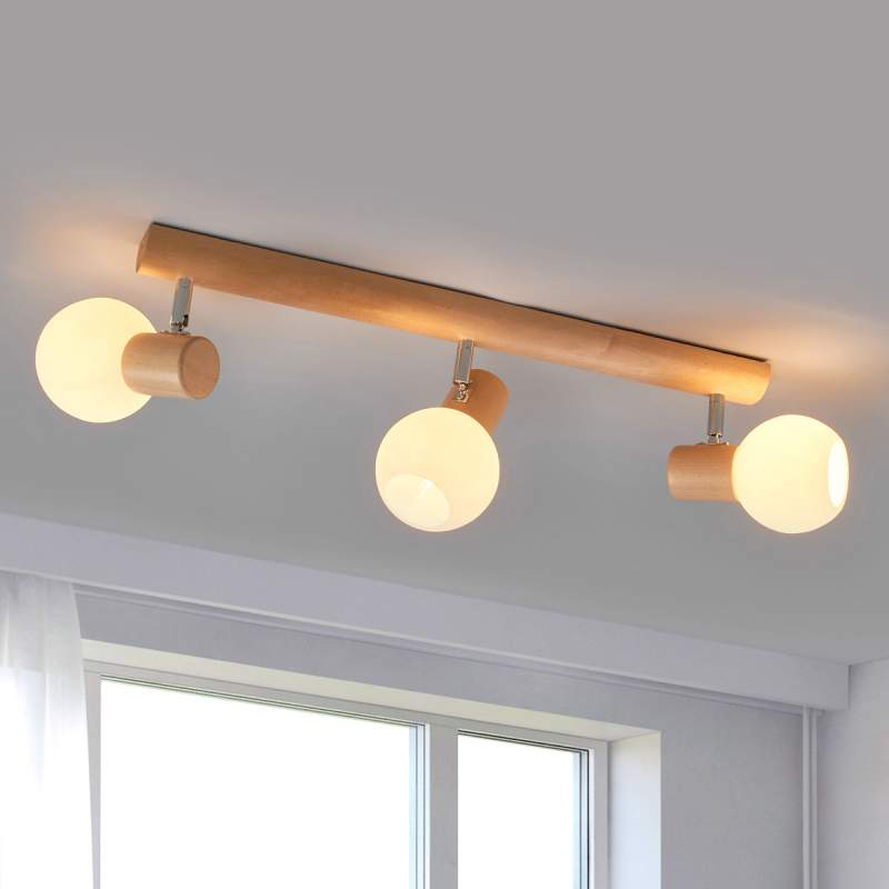 Plafondlamp Karin met natuurlijk lichteffect