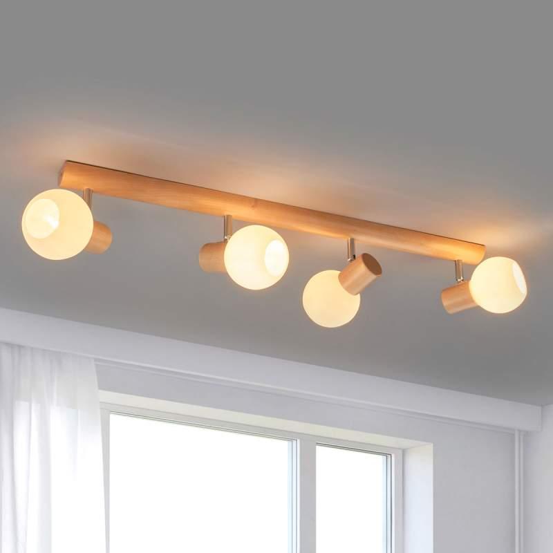 Functionele plafondlamp Karin, 4 lichtbronnen
