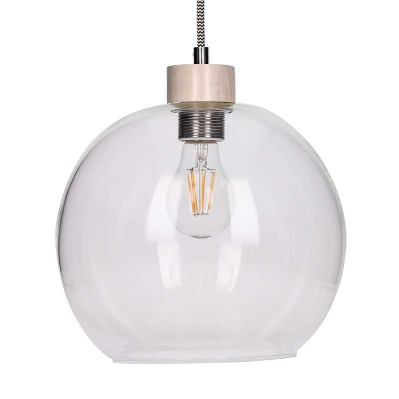 Svea - stijlvolle hanglamp m. ronde glaskap