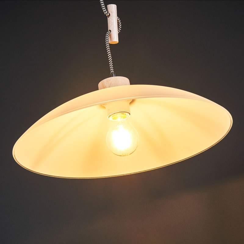 Stijlvolle hanglamp Jona met houten details