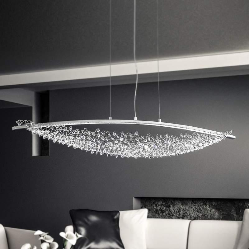 132 cm lang - LED pendellamp Amaca m. Swarovski