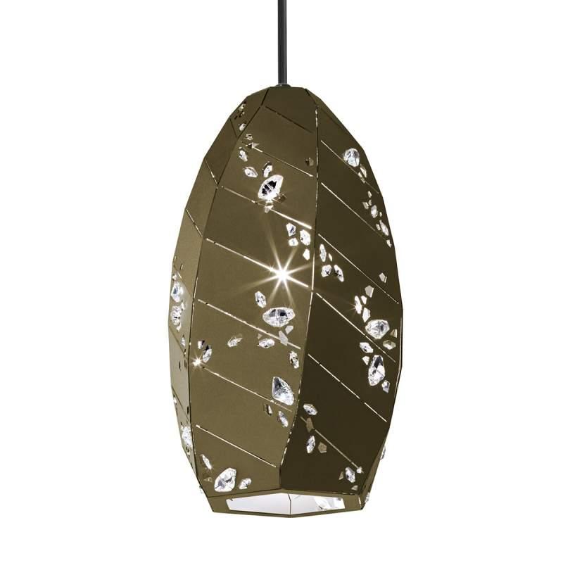 Brons-gouden glinsterende hanglamp Apta, 15 cm