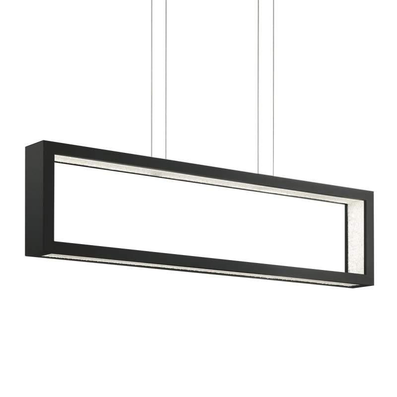 Zwarte kristallen LED pendellamp Revealed Open