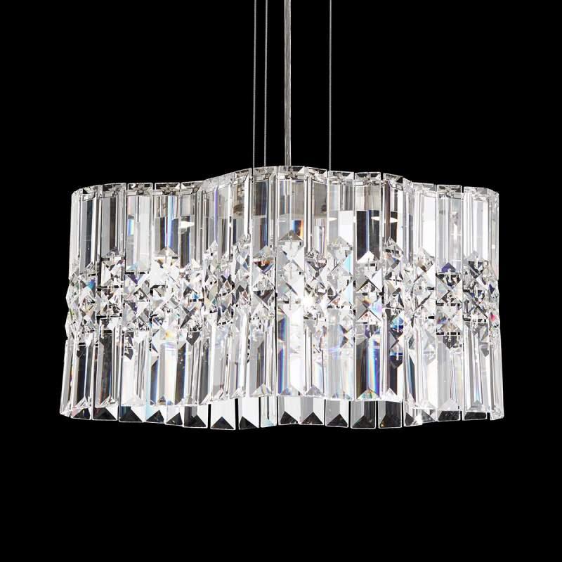 Compacte LED hanglamp Selene met kristallen