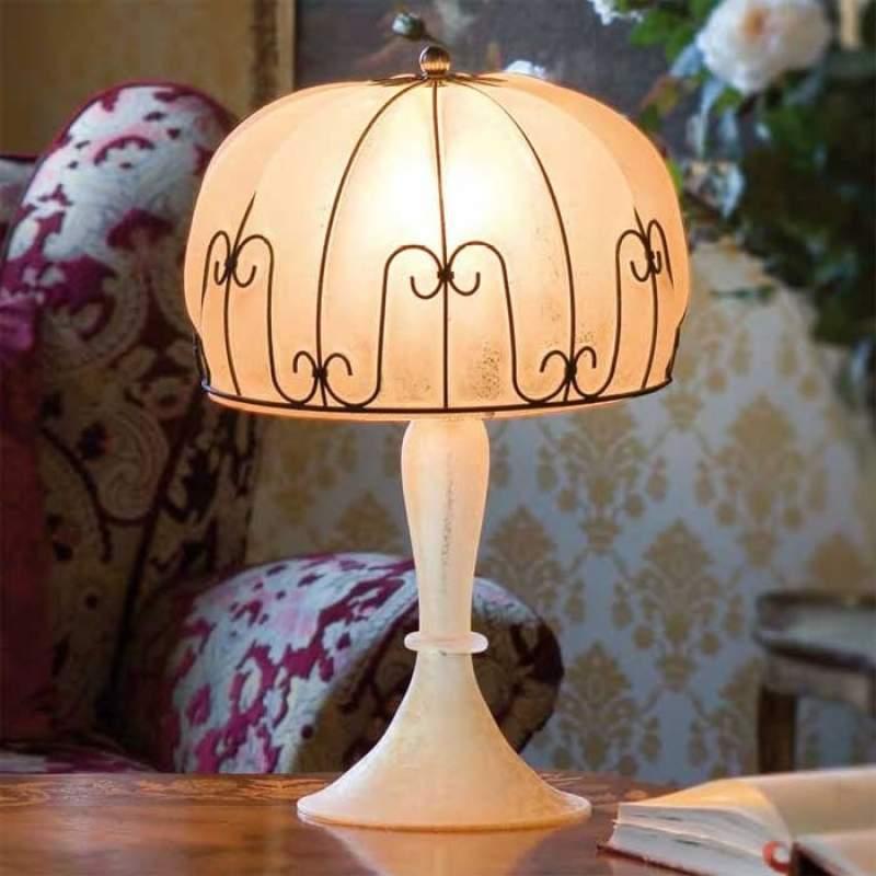 Handgemaakte tafellamp MEDUSA, amber