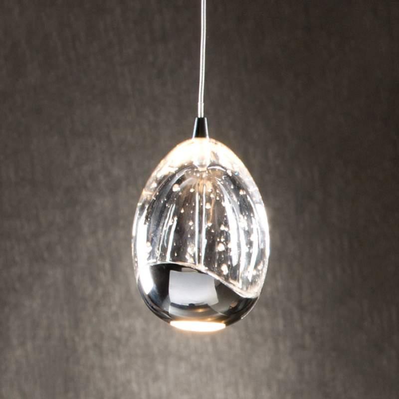 Rocio - éénflammige LED hanglamp, chroom