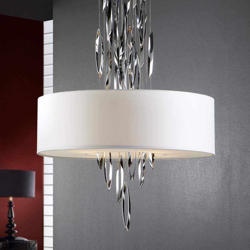 Domo - chique hanglamp met chromen elementen
