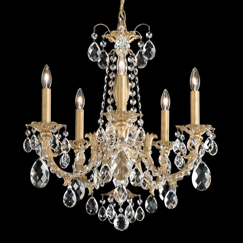 Alea - kroonluchter met kristallen en goud