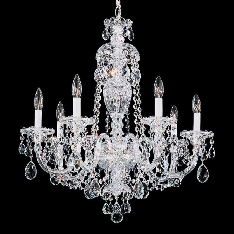 Kristallen kroonluchter Sterling met zeven lampen