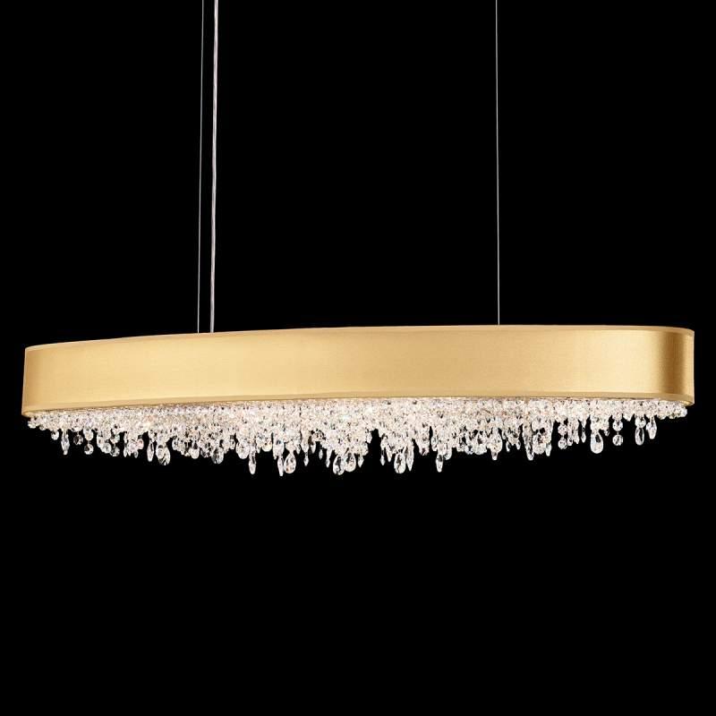 Gouden hanglamp met Eclyptix met kristallen