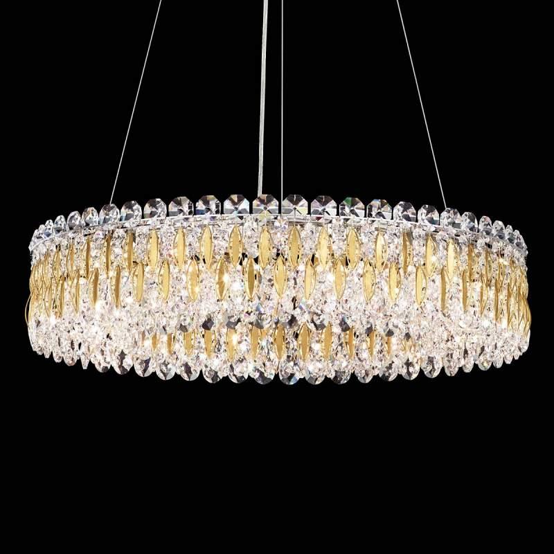Ronde Kristallen hanglamp Sarella