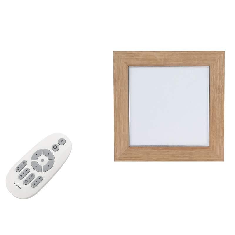 Vierkant houten LED-paneel Addison, 2.700K-6.200 K
