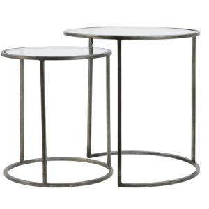 Light & Living Side table S/2 DUARTE tin