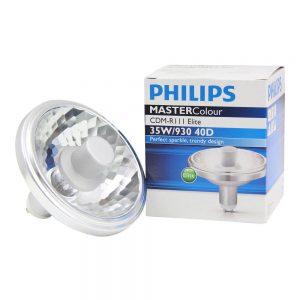 Philips MASTERColour CDM-R111 Elite 35W 930 GX8.5 40D   Warm Wit - Beste Kleurweergave