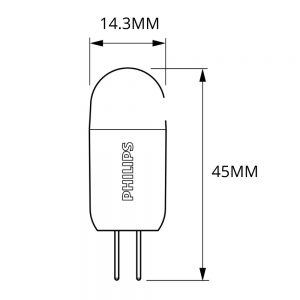 Philips CorePro LEDcapsule LV G4 2W 827   Vervangt 20W