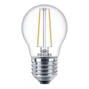 Philips Classic LEDlustre E27 P45 2.7W 827 Helder | Dimbaar - Vervangt 25W