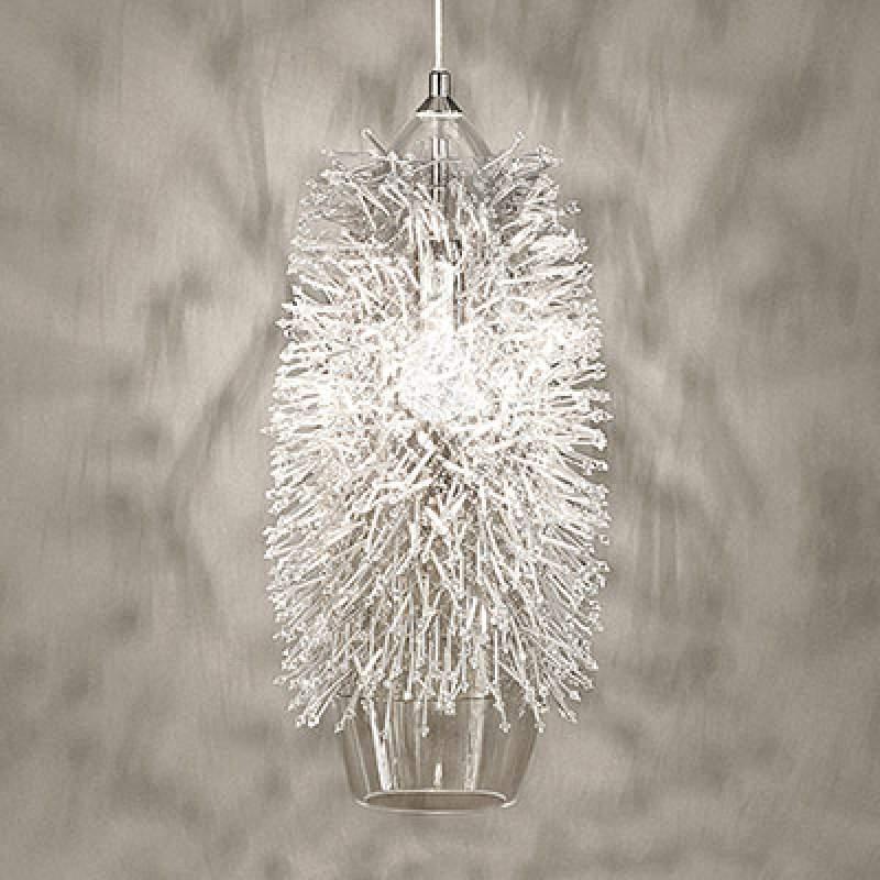 Decoratieve hanglamp Sea Urchin met kristallen