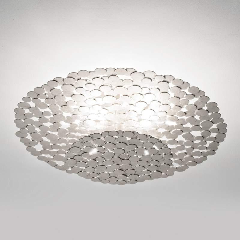 Fascinerende plafondlamp Tresor 60 cm, zilver