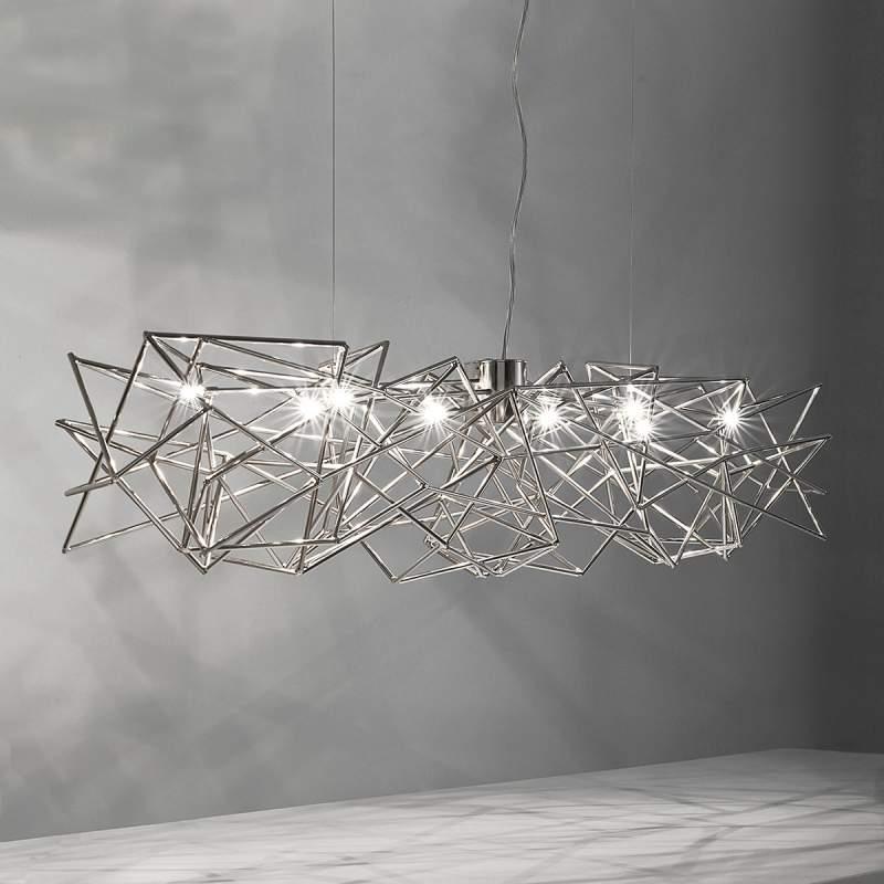 Etoile - verweven hanglamp, 8-lichts
