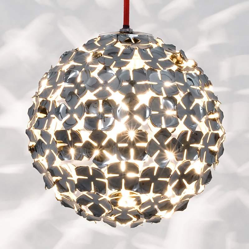 Hanglamp Ortenzia met bloemendecoratie