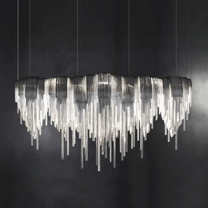 Volver - exclusieve LED hanglamp, langwerpig
