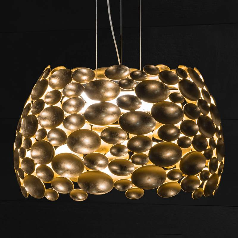 Goud vergulde LED hanglamp Anish - Ø 44 cm