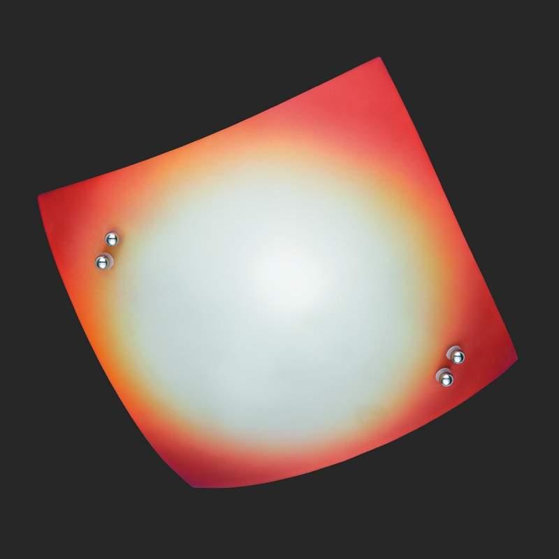 Licht gebogen plafondlamp STOLE, oranje