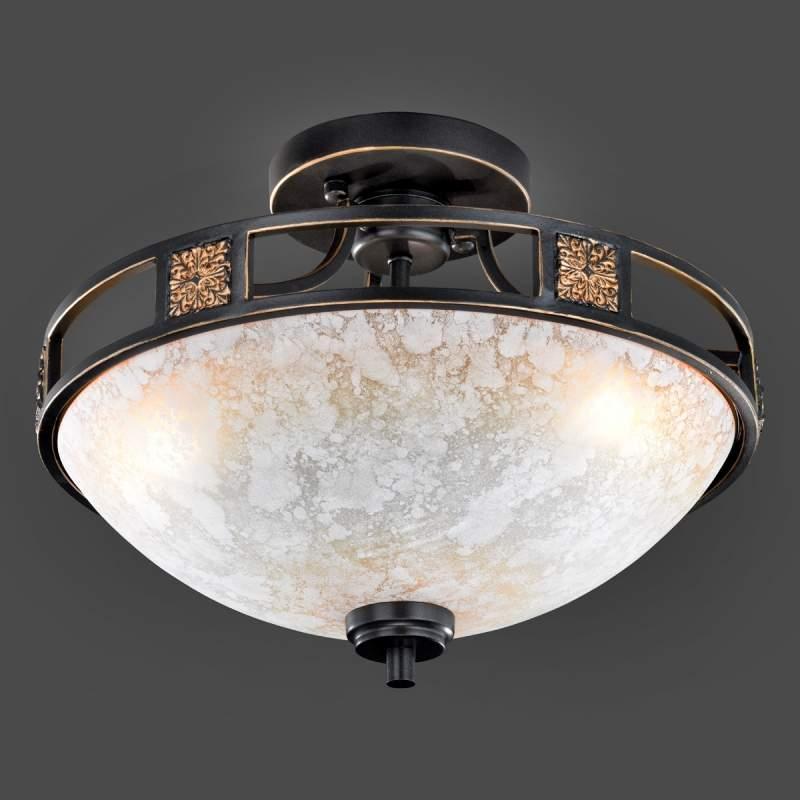 Antiek vormgegeven plafondlamp Caecilia, 42 cm