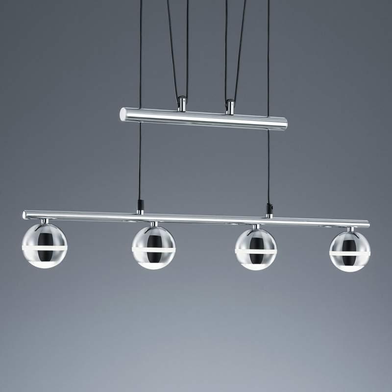 In hoogte verstelb - LED pendellamp Ada 4 lichtbr.