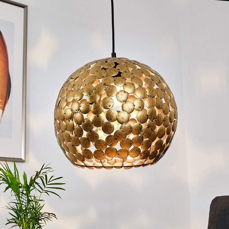 Frieda - esthetische hanglamp - antiek messing