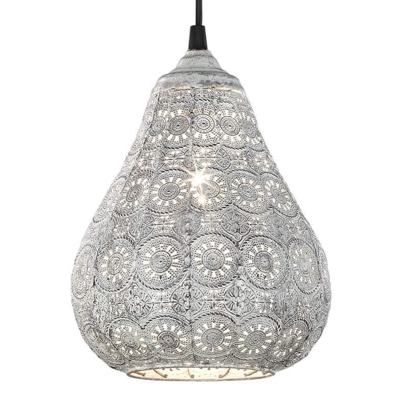 Antieke grijze hanglamp Jasmin