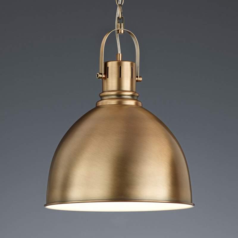 Messingkleurige hanglamp Tores