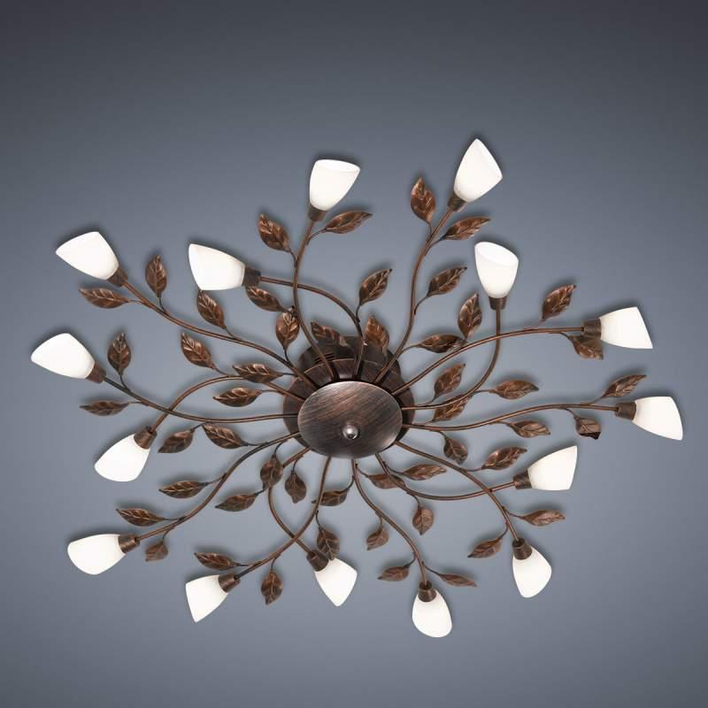 Florentijnse plafondlamp LED Jela roest-antiek