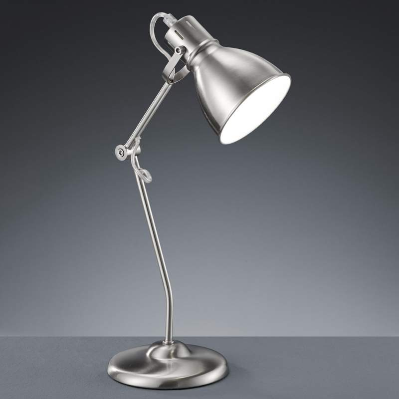 In hoogte verstelbare tafellamp Keali mat nikkel