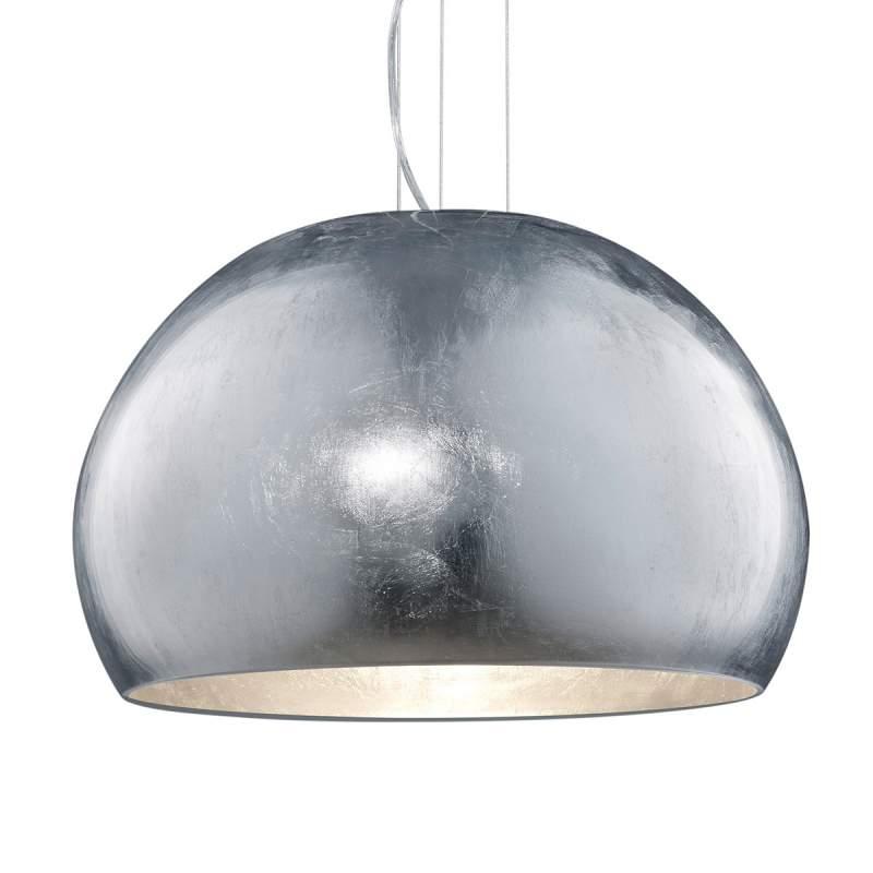 Ontario - glazen hanglamp in zilver