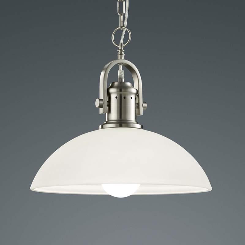 Opvallende hanglamp Montender mat nikkel