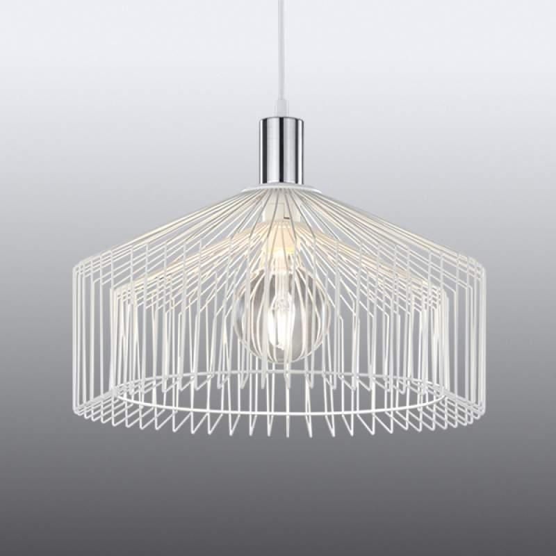 Rastervormige hanglamp Tanja in het wit