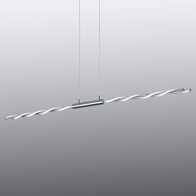Chique, gedraaide led hanglamp Portofino